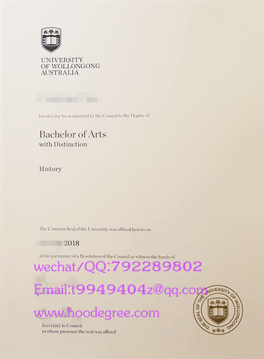 澳大利亚伍伦贡大学毕业证University of Wollongong degree certifcate