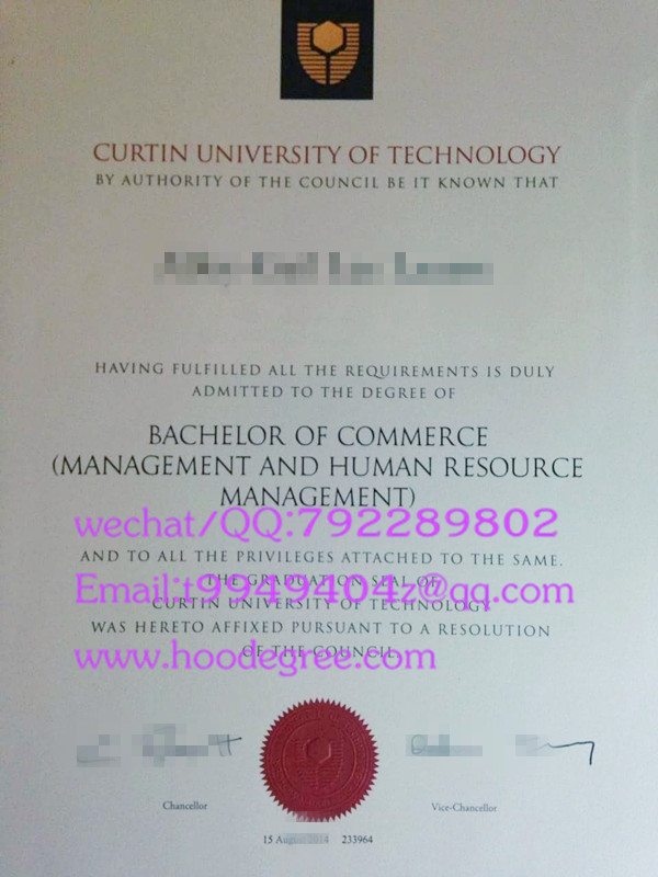 澳大利亚科廷理工大学毕业证curtin university of technology degree certificate