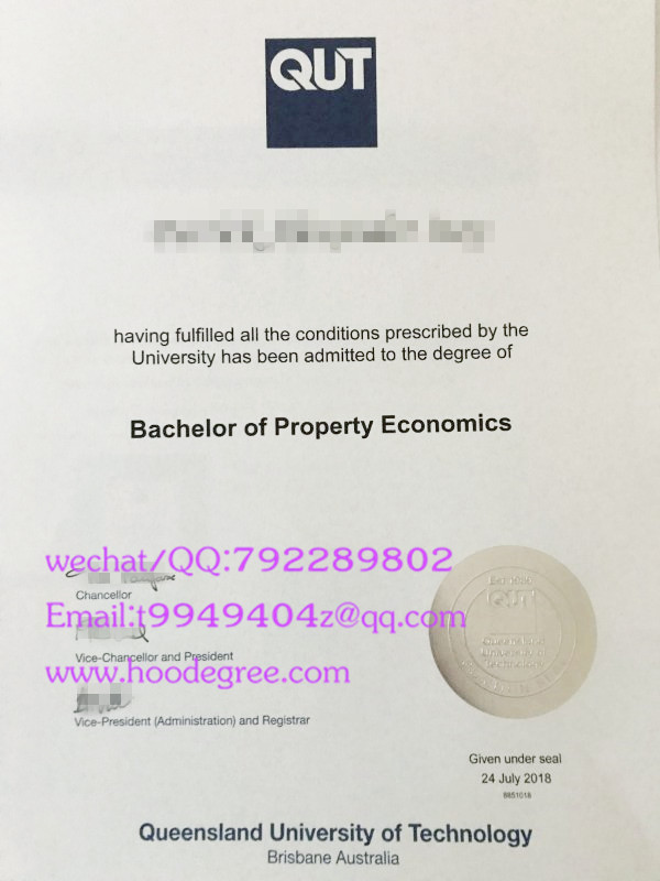 澳大利亚昆士兰理工大学毕业证queensland university of technology degree certificate