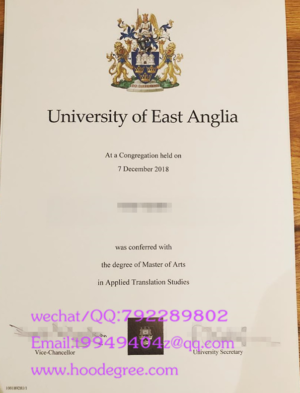 英国东安格利亚大学毕业证university of east anglia degree certificate