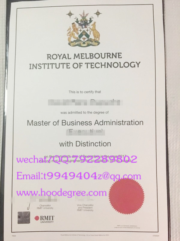 皇家墨尔本理工大学毕业证royal meibourne institue of technology degree certificate