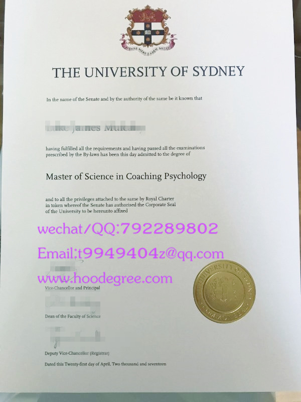澳大利亚悉尼大学毕业证The University of Sydney degree certificate