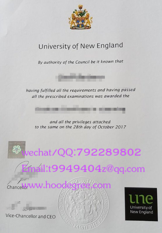 澳大利亚新英格兰大学毕业证The University of New England degree certificate