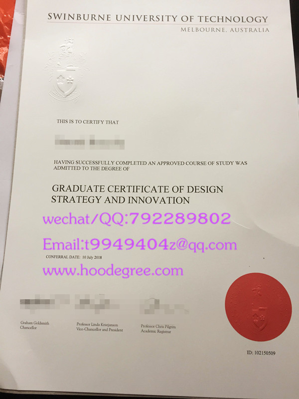 澳大利亚斯威本科技大学毕业证Swinburne University of Technology degree certificate