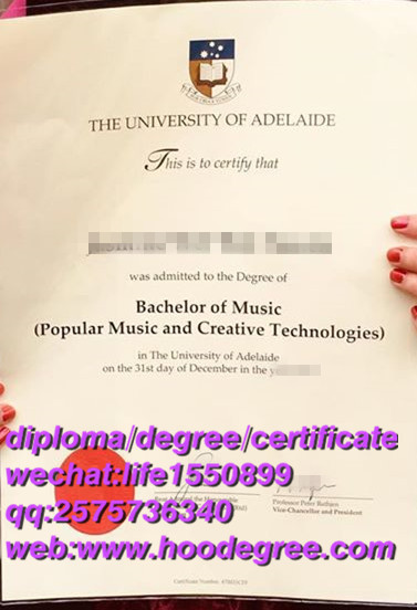 diploma from The University of Adelaide阿德莱德大学毕业证书