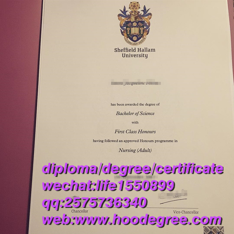 diploma from Sheffield Hallam University谢菲尔德哈勒姆大学毕业证书