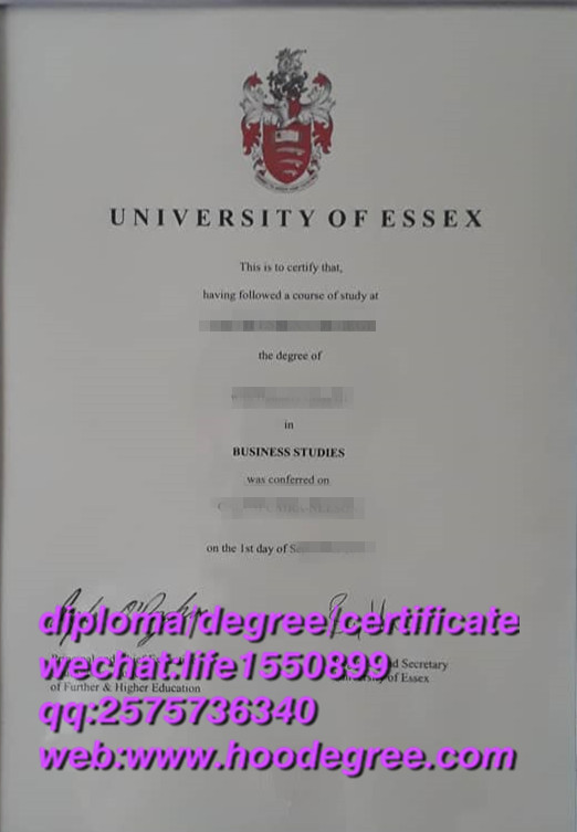 diploma from University of Essex埃塞克斯大学毕业证书