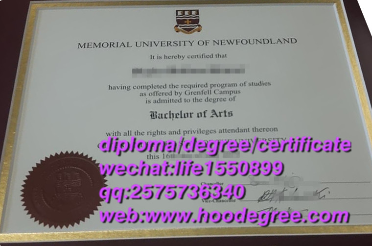 diploma of Memorial University of Newfouland纽芬兰纪念大学毕业证书
