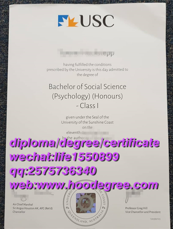diploma from University of The Sunshine Coast阳光海岸大学毕业证书
