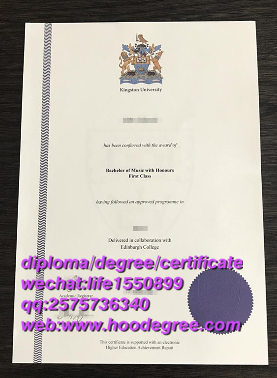 diploma of Kingston University金斯顿大学毕业证书