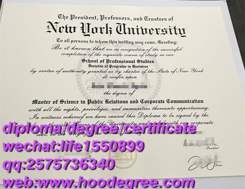 degree certificate from New York University纽约大学毕业证书