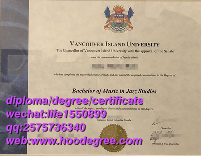 diploma of Vancouver Island University温哥华岛大学毕业证书
